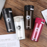 Hot Quality Double Wall Stainless Steel Vacuum Flasks 380ml Car Thermo Cup Coffee Tea Travel Mug Thermol Bottle Thermocup