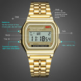 SYNOKE Men's Digital Watches Women Retro G LED Digital Shock Sport Waterproof Wristwatches relogio masculino Gold Watch