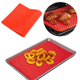 Pyramid Shape Without Stickiness Silicone Oven Mat Potholder  High Temperature Resistance Barbecue Mat Baking Mat