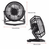 Portable DC 5V Small Desk USB 4 Blades Cooler Cooling Fan USB Mini Fans Operation Super Mute Silent PC / Laptop / Notebook