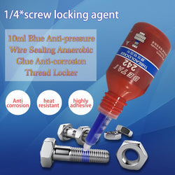 10ml 242 Liquid Glue Blue Anaerobic Adhesive Removable Sealant Thread Super Glue For Metal Surfaces And Screw