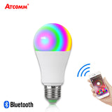 15W Ampoule LED E27 RGBW Bluetooth Light Bulb B22 20 Modes Music Control Multicolor Smart Lamp 85-265V IOS Android Bluetooth 4.0
