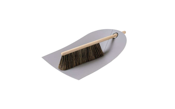 Dustpan & Broom, Set of 6 Light grey