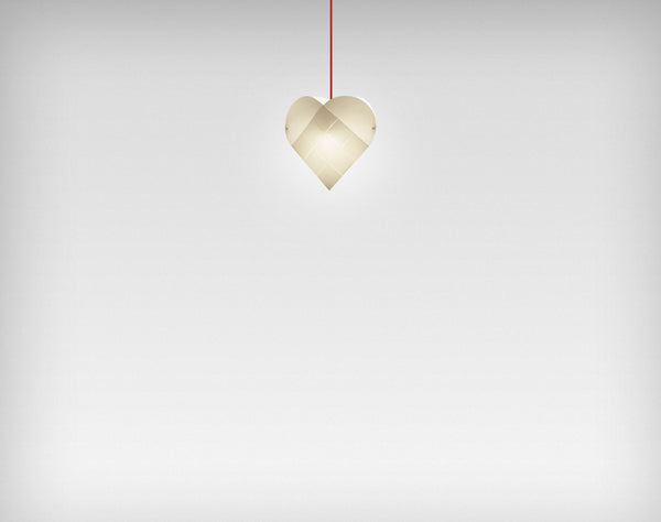 Le Klint Heart Pendant Red / 35