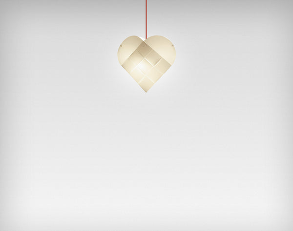 Le Klint Heart Pendant Red / 48
