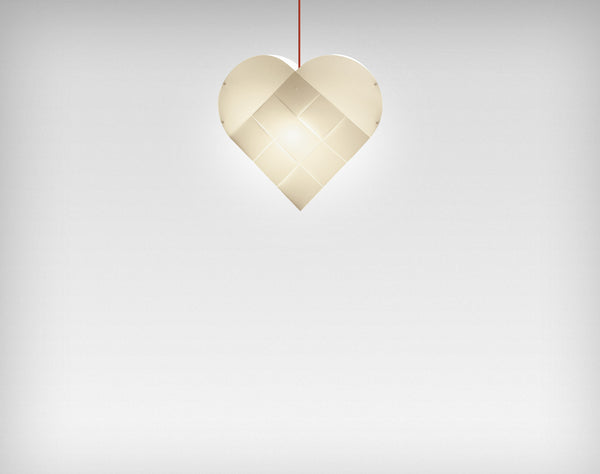 Le Klint Heart Pendant Red / 63
