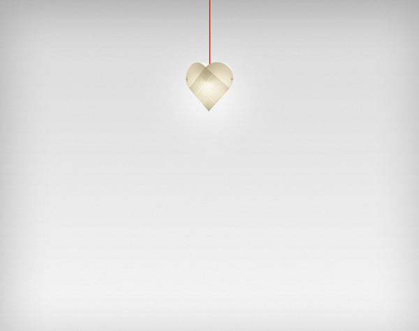 Le Klint Heart Pendant Red / 24