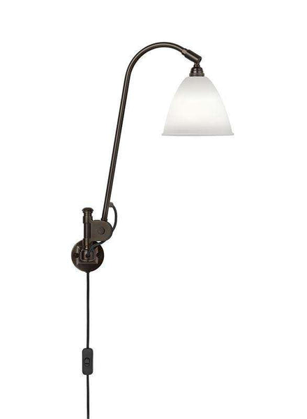 Bestlite BL6 with switch wall lamp Black Brass/Bone China