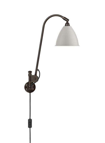 Bestlite BL6 with switch wall lamp Black Brass/White