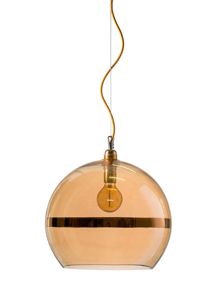 Rowan Pendant Ø39cm Gold stripe on gold