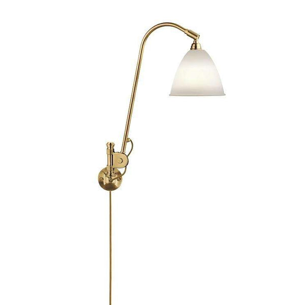 Bestlite BL6 with switch wall lamp Porcelain/Brass