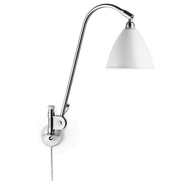 Bestlite BL6 with switch wall lamp White/Chrome