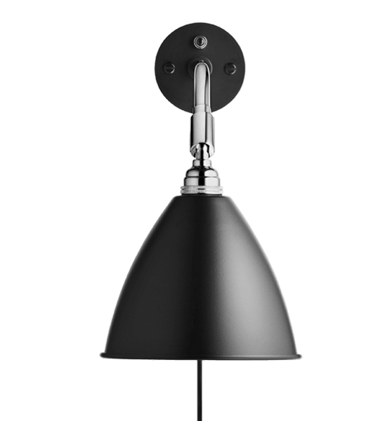 Bestlite BL7 with switch wall lamp Black/Chrome