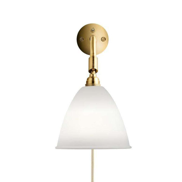 Bestlite BL7 with switch wall lamp Porcelain/Brass
