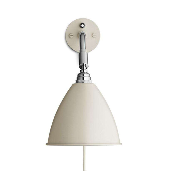 Bestlite BL7 with switch wall lamp Off-White/Chrome