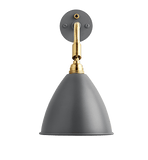 Bestlite BL7 with switch wall lamp Grey/Brass