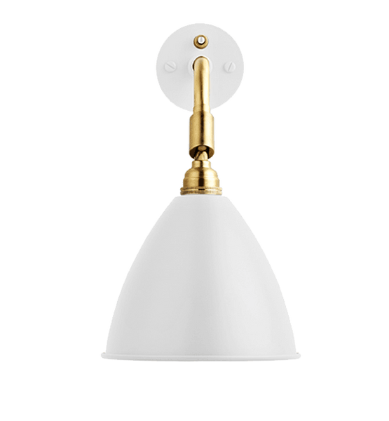 Bestlite BL7 with switch wall lamp White/Brass