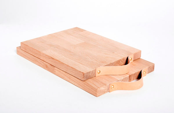 Serving Board with Leather Handle