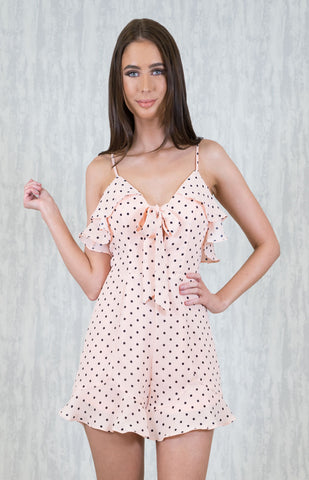Polka Bow Playsuit - April Bloom Boutique AU