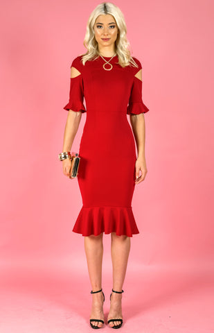 Jessica Dress - Red - April Bloom Boutique AU