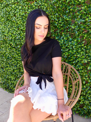 White Tiered Skirt