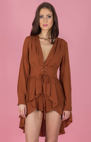 Christina Playsuit - Rust