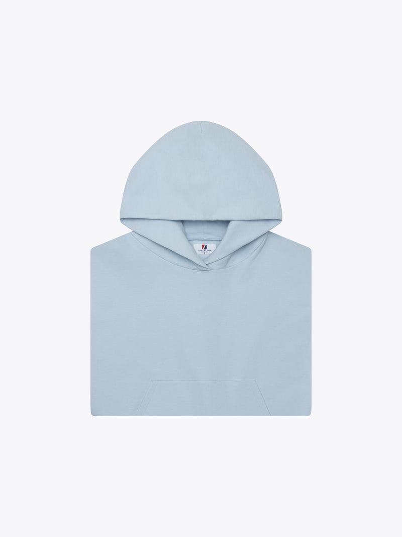 9oz Work Fit Hoodie - Baby Blue