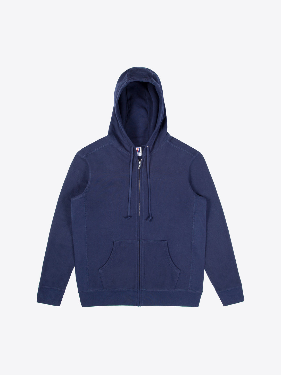 Athletic Fit Zip Hoodie - Navy