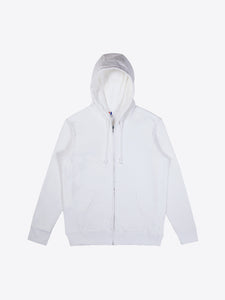 Athletic Fit Zip Hoodie - White