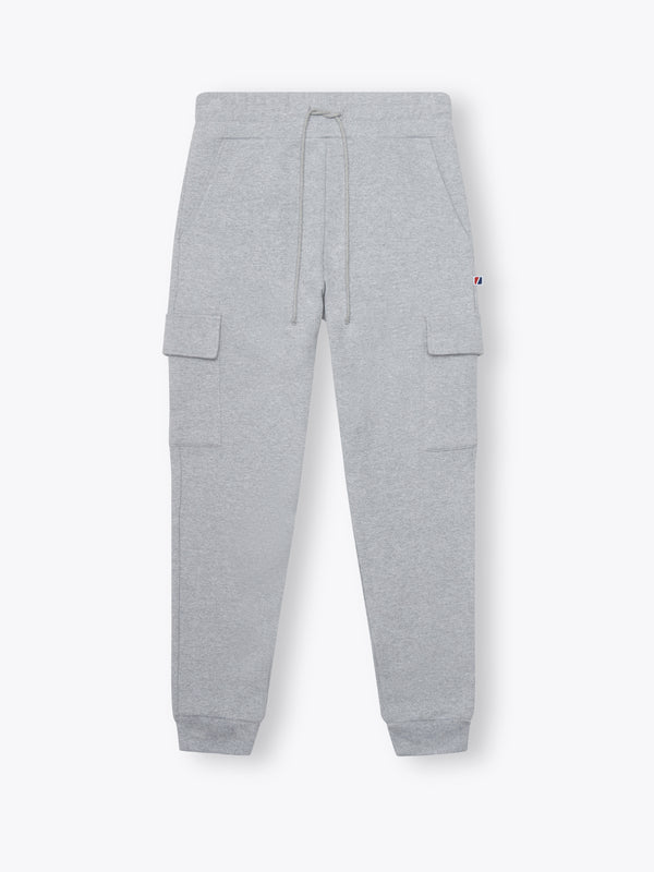College Fit Cargo Sweatpants - Heather Grey
