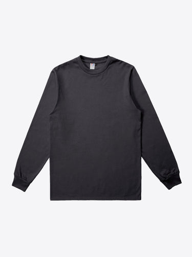Jersey L/S Tee - Charcoal Black