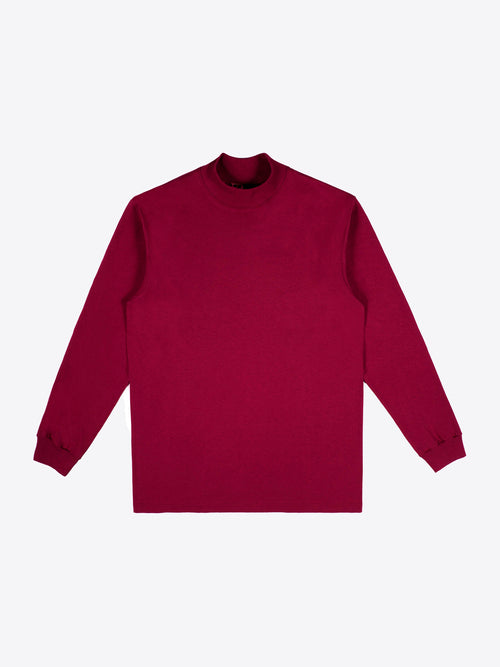 Jersey Mock Neck - Cardinal Red