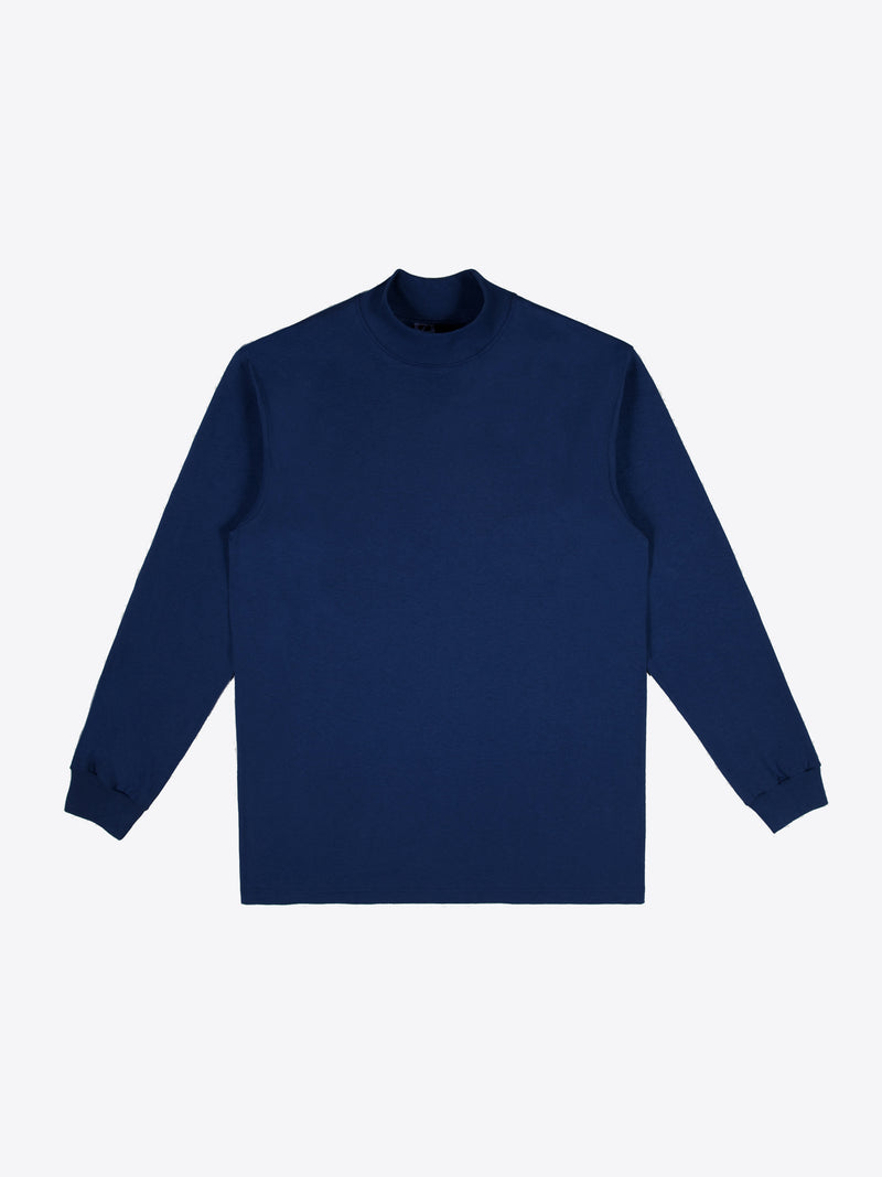 Jersey Mock Neck - Navy