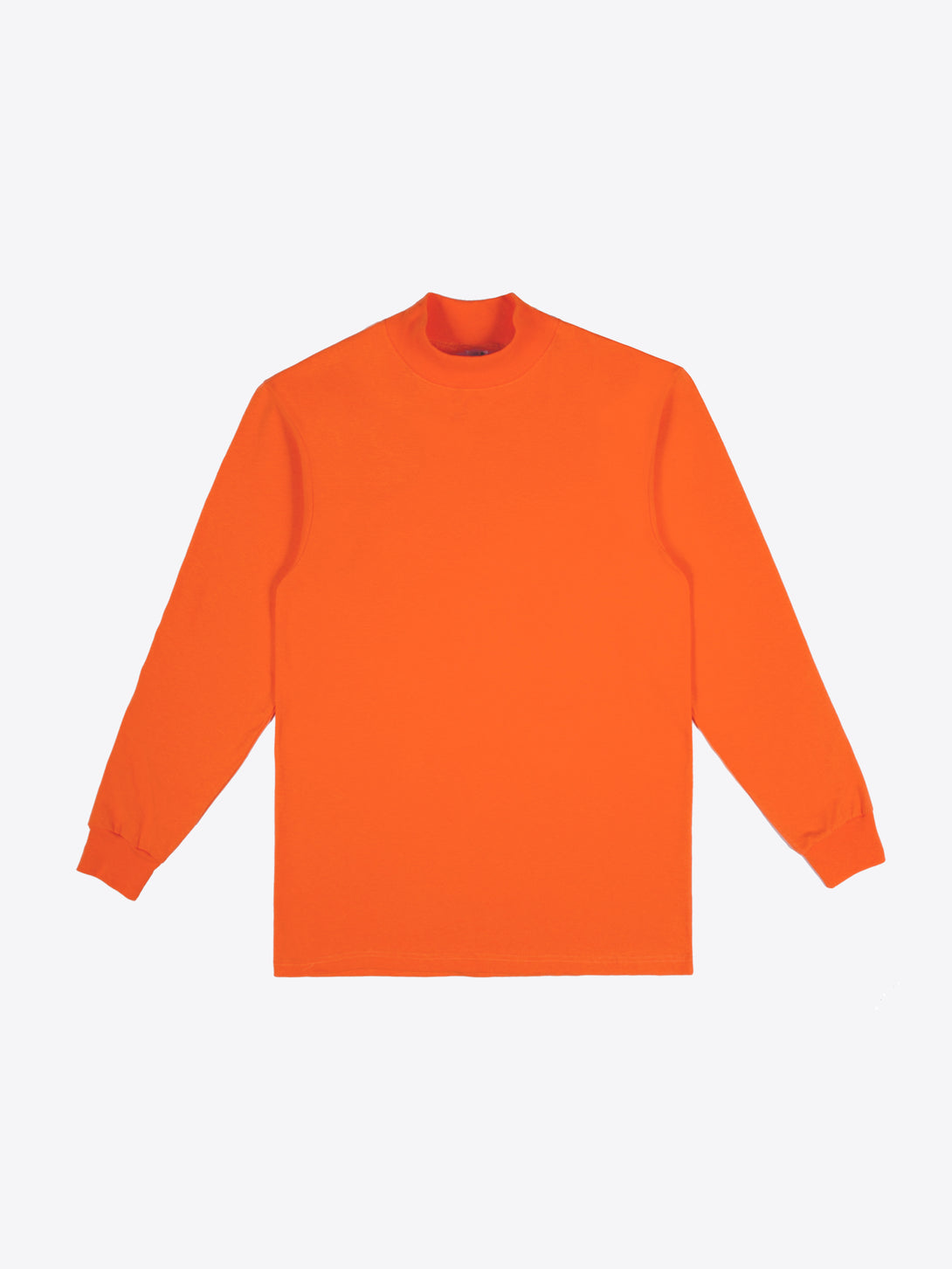 Jersey Mock Neck - Orange