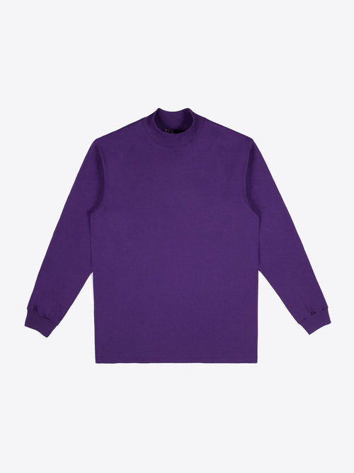 Jersey Mock Neck - Purple