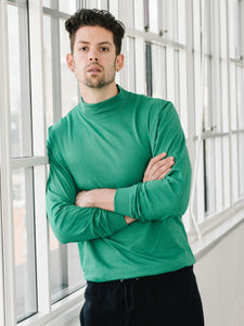 Jersey Mock Neck - Kelly Green