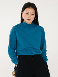 Jersey Mock Neck - Royal