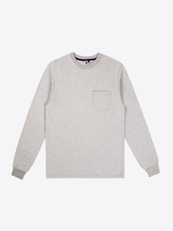 Rugby L/S Pocket Tee - Heather Grey