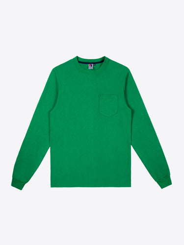 Rugby L/S Pocket Tee - Kelly Green