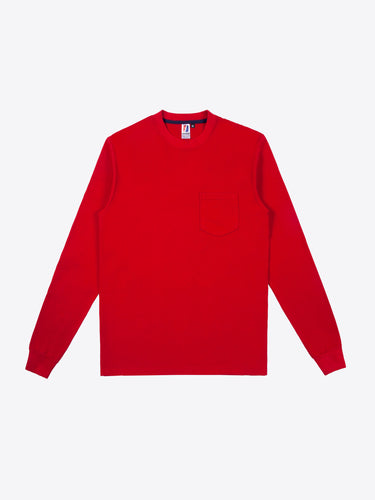 Rugby L/S Pocket Tee - Red