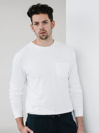 Rugby L/S Pocket Tee - White