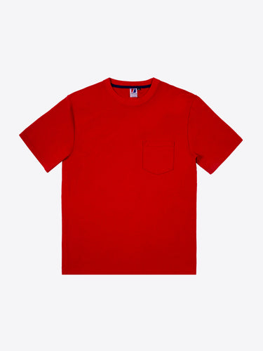 Rugby S/S Pocket Tee - Red