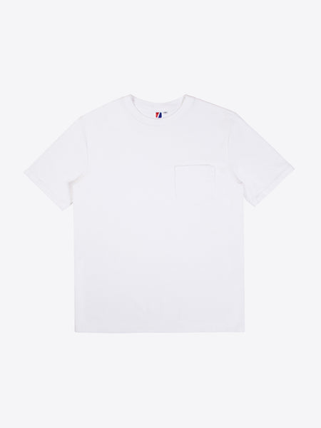 Rugby S/S Pocket Tee - White