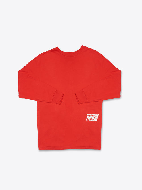 Jersey 'Racerstripe' L/S Tee - Red