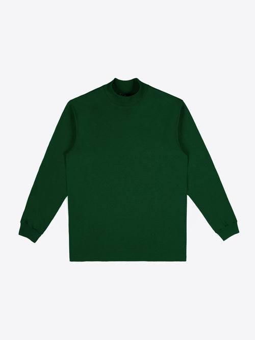 Jersey Mock Neck - Dark Green