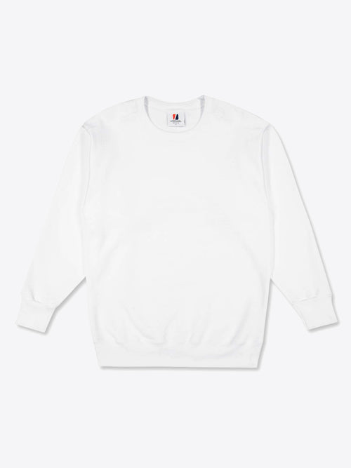 Work Fit Crew Neck - White