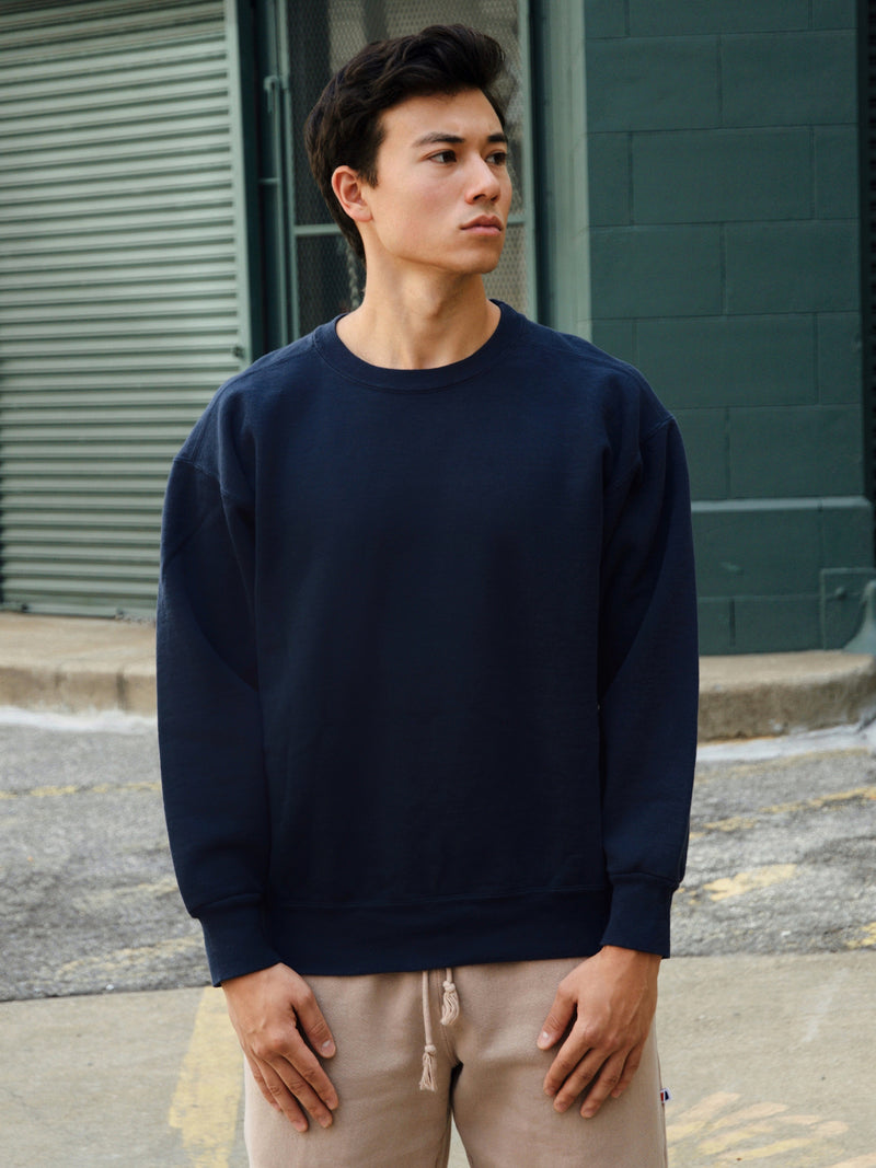 Work Fit Crew Neck - Navy