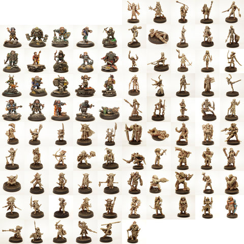 Ultimate Stonehaven Miniatures Set - One of Every Pewter Mini - 369 Minis Total