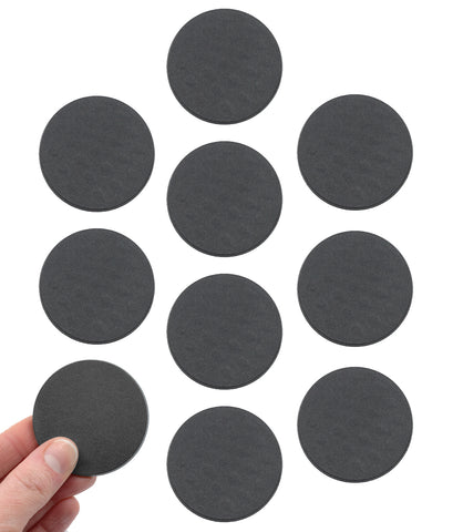 Pack of 10 Blank Miniature Bases, 2 Inch