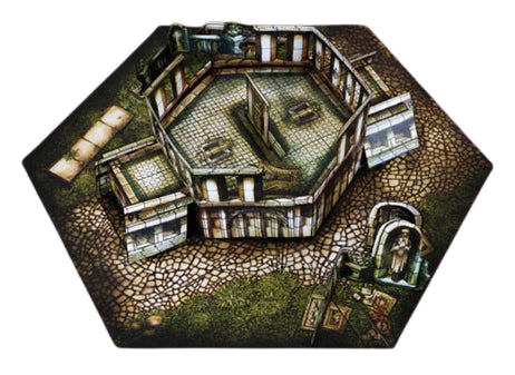 Mausoleum Pop-Up Terrain, 12 Inch - Digital Download - Printing & Assembly Required
